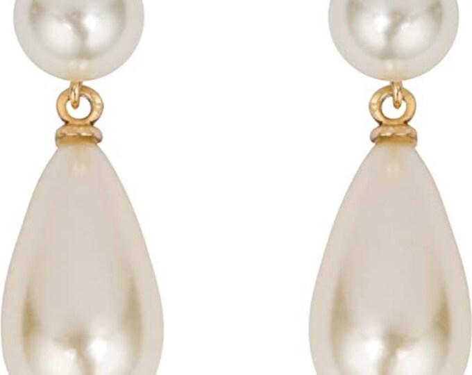 Grace Kelly Parliament Pearl Drop Earrings - Pierced