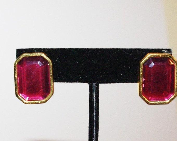 Joan Rivers Purple Clip On Earrings - S1309