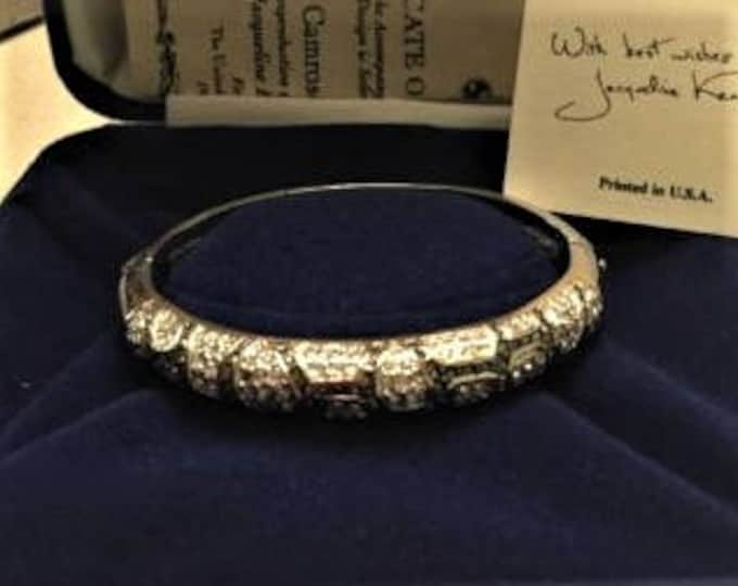 Jackie Kennedy Leopard Bangle - Gold and Silver with Stones  - 131 tms1