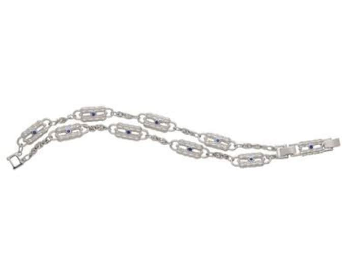 Jackie Kennedy Silver Paperclip Bracelet with Certificate - TMS 106