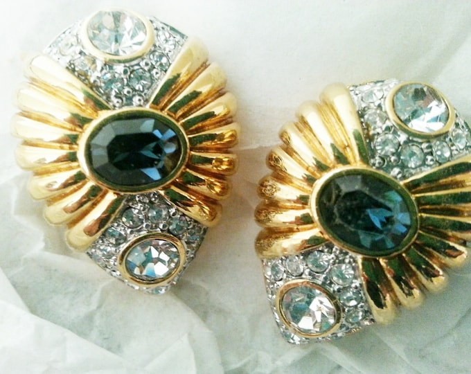Nolan Miller Earrings - Blue Venus Clip On Earrings - S1845