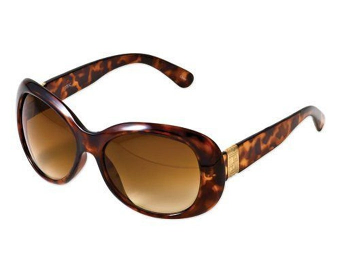 Jackie Kennedy Sunglasses with Hard Case - Rounded Corners in Tortoise or Black