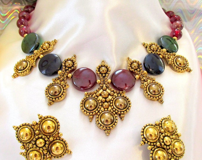 Jose Barrera Jewelry SET -  ADRIATIC Necklace and Earrings  - S3022
