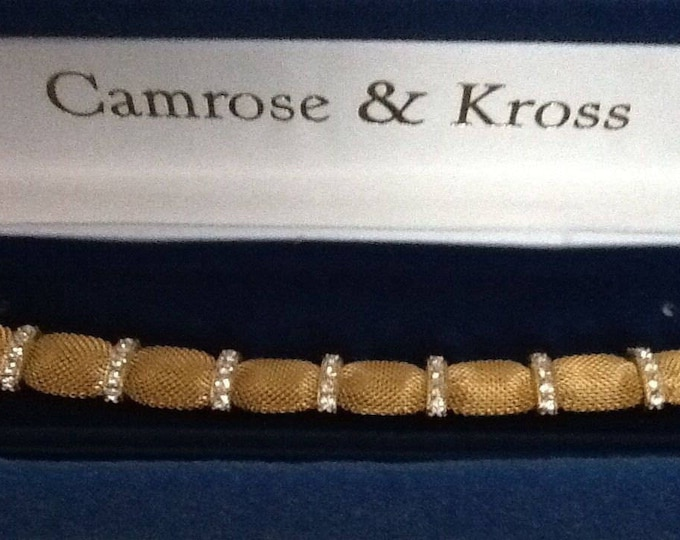 Jackie Kennedy Crystal Mesh Bracelet Size 7 or 8 with Certificate