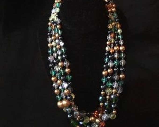 Joan Rivers Necklace -  Multi-strand, Multo-color Beaded Necklace - S3222