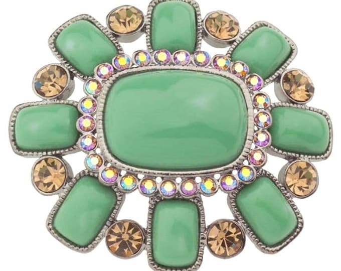 Joan Rivers Large Green Brooch - S2000