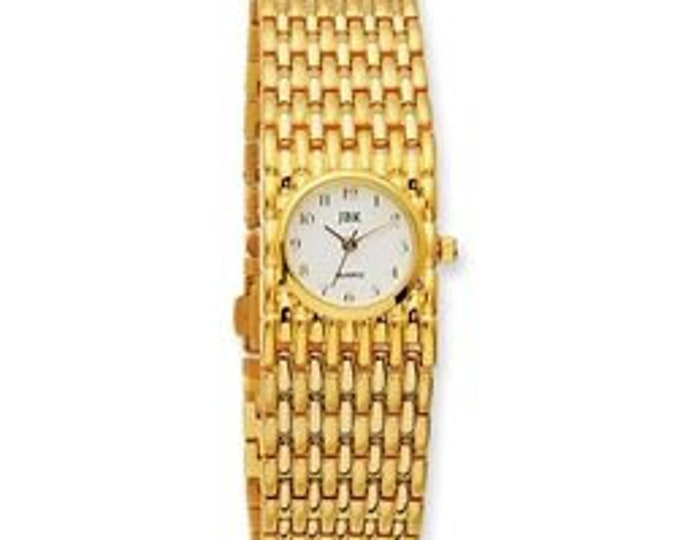 Jackie Kennedy Gold Band Watch Size 7.5 with NEW BATTERY