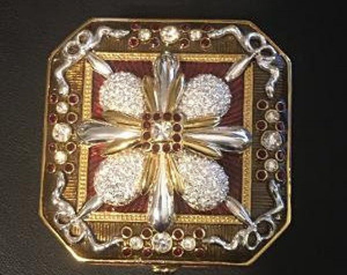 Joan Rivers TRINKET BOX with Crystal Brooch - S3211