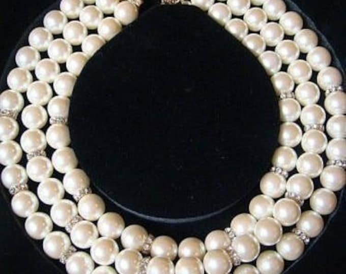 Franklin Mint Necklace - Shakira Caine Pearl Necklace Set - S2245