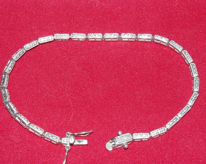 925 Diamond Cut Bracelet Size 7.5 - S3070 - TMS1