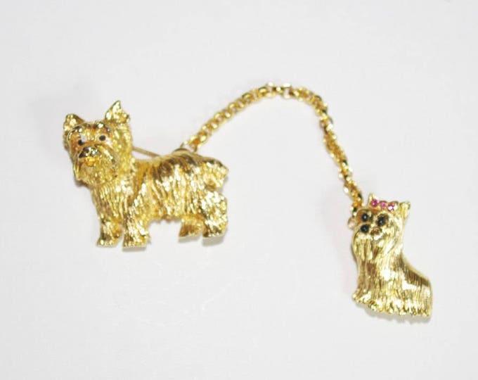 Joan Rivers Set of 2 Dog Pins - S2183