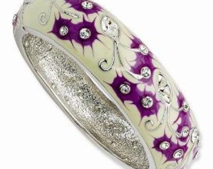 Jackie Kennedy Japanese Floral Bracelet with Certificate