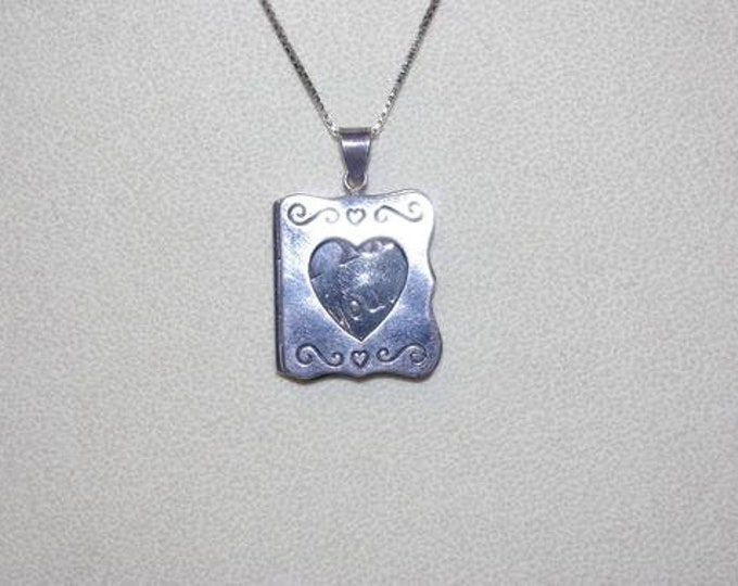 925 Necklace I LOVE YOU Pendant - TMS1