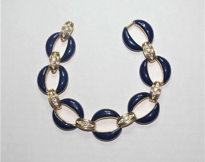 Jackie Kennedy Blue Link Bracelet Size 7 or 8 with Certificate - 68