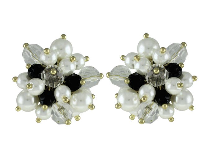 Joan Rivers Black and White Pierced Earrings - S2332