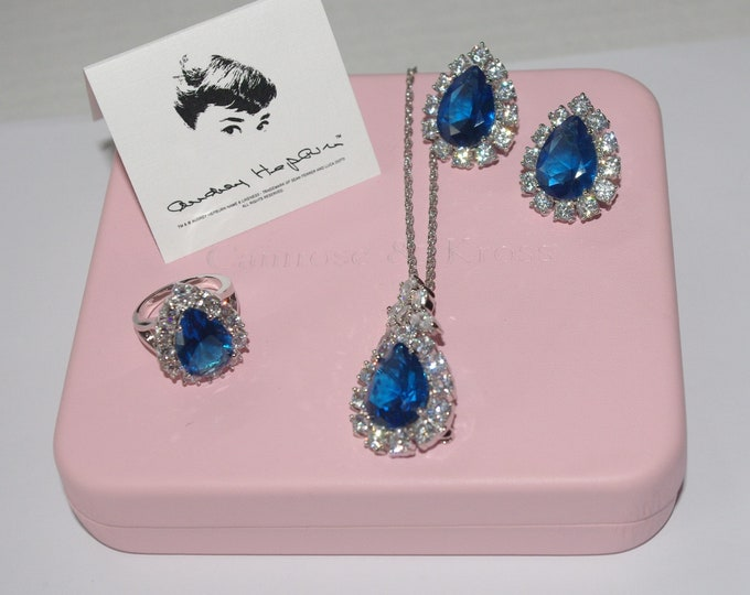 Audrey Hepburn Blue Topaz Jewelry Set