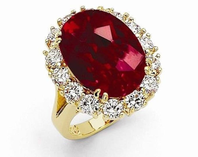 Jackie Kennedy Ruby Ring with Certificate - Size 8