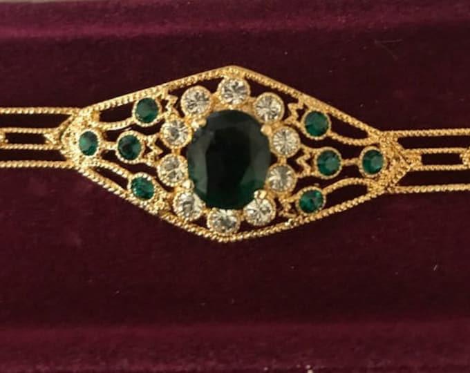 Jackie Kennedy Emerald Bracelet with Certificate - Size 7 - S142
