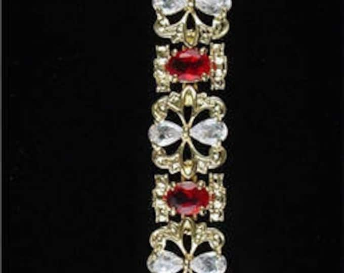 Jackie Kennedy Ruby Garland Bracelet, Size 7.5 to 8.5 - #70