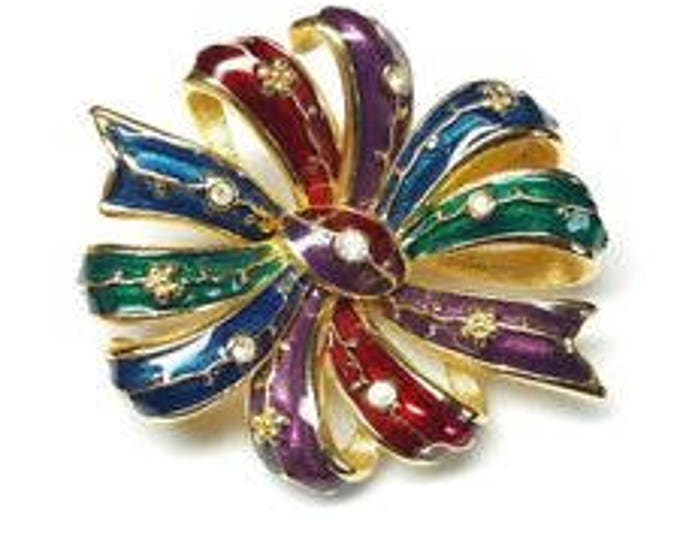 Joan Rivers Mullti Color Bow Pin - S2180