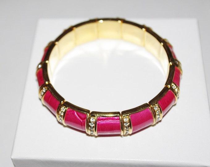Joan Rivers Bracelet - Hot Pink Stretch Bracelet - S1069