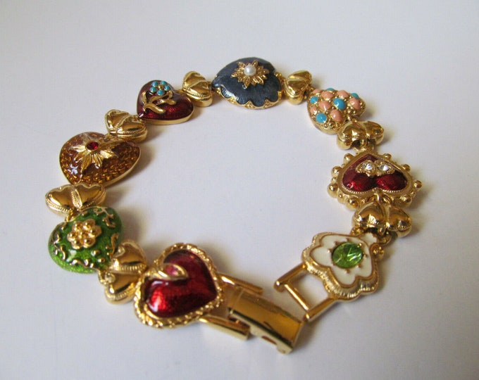 Joan Rivers Hearts and Flowers Bracelet - S3228