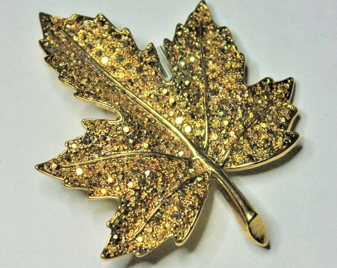 Kenneth Lane Gold Crystal Brooch - S3046
