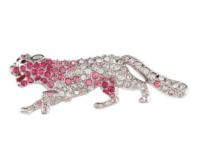 Jackie Kennedy Pink Panther Brooch with Certificate - 40