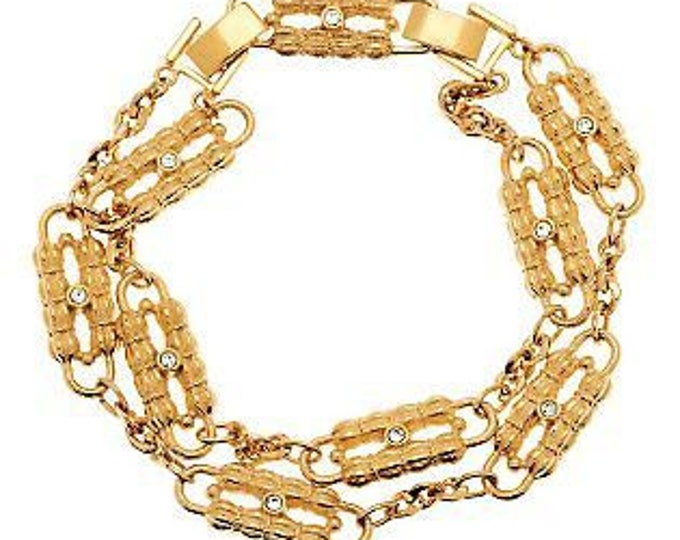 Jackie Kennedy Gold Paperclip Bracelet - A Coco Chanel Design- 356