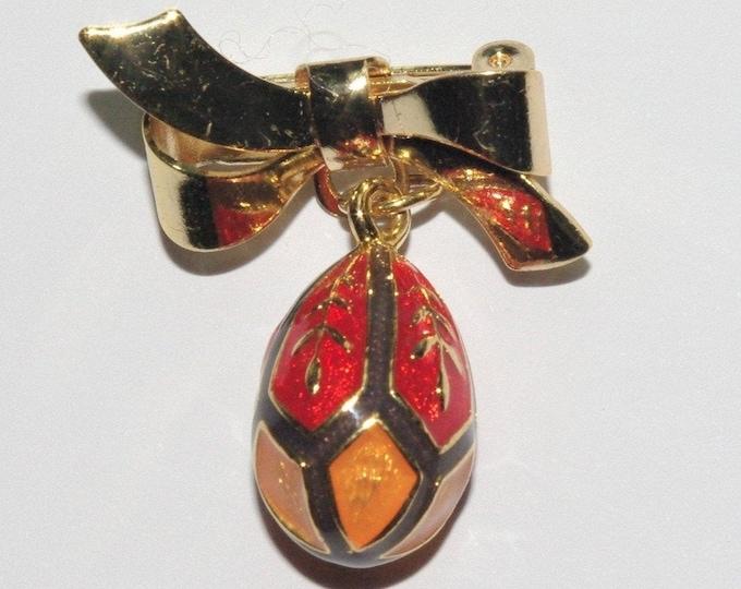 Joan Rivers Egg Charm Pin - S3230