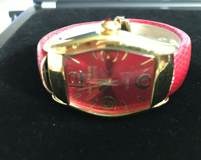 Joan Rivers Watch - Cuff Style RED Face and Band -  S3219
