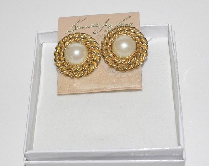 Kenneth Lane Pearl Clip On Earrings - S2478