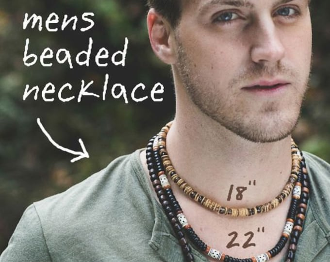 NECKLACE LENGTH CHART for Men - Information only (not for sale)