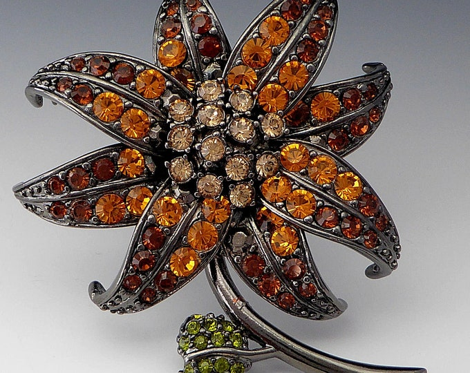 Joan Rivers Topaz Lily Brooch - S2435