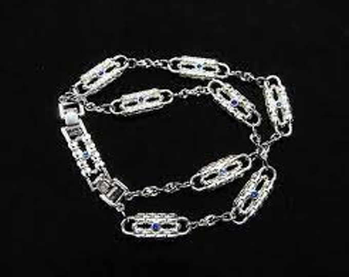 Jackie Kennedy Silver Paperclip Bracelet - A Coco Chanel Design - 405