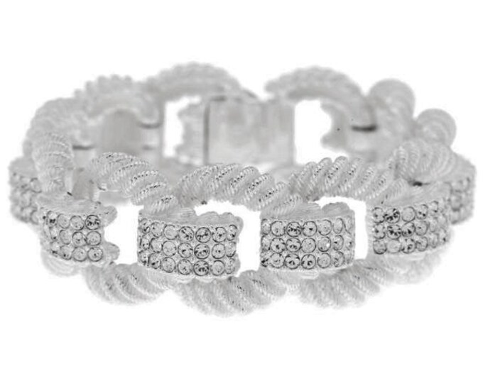Joan Rivers Silver Elegance Link Bracelet - Size 7