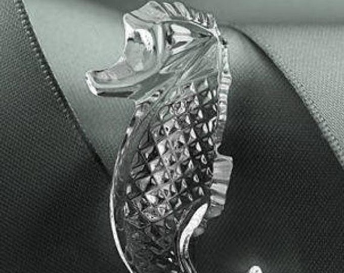 Waterford Crystal Brooch - Glass Seahorse