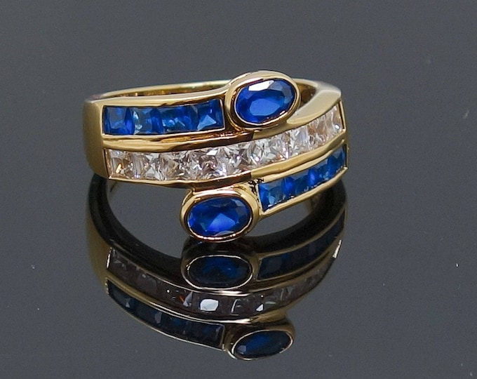 Jackie Kennedy Sapphire Wrap Ring - Size 8 with Certificate - tms1