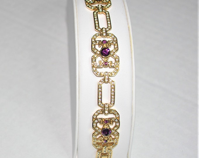 Jackie Kennedy Art Deco Bracelet Size 7 or 8 with Certificate - 90