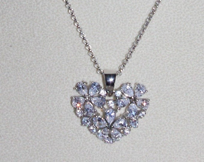 Nolan Miller Crystal Heart Necklace - S3118
