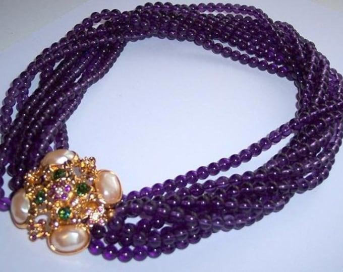 Elizabeth Taylor Necklace - Forever Violet Amethyst - S3014