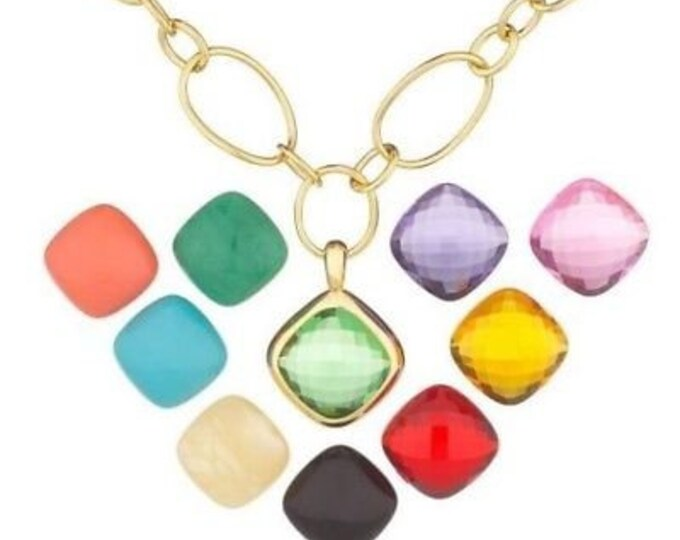 Joan Rivers Necklace - Gold with 9 Inserts - S3105