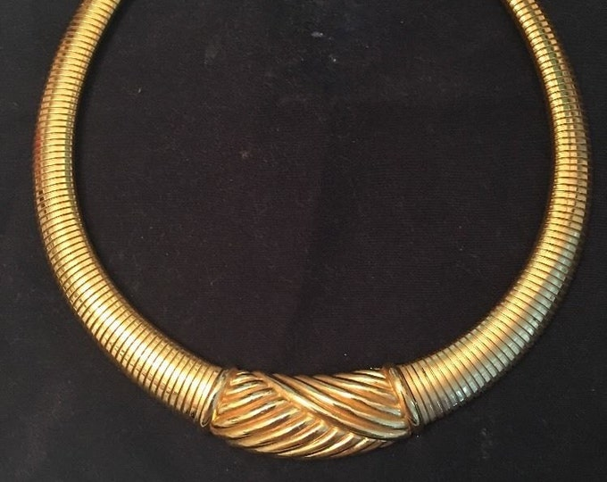 Christian Dior Gold Choker Necklace - S1971