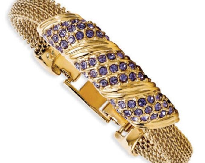 Jackie Kennedy Amethyst Bracelet Size 7 or 8 with Certificate - 93