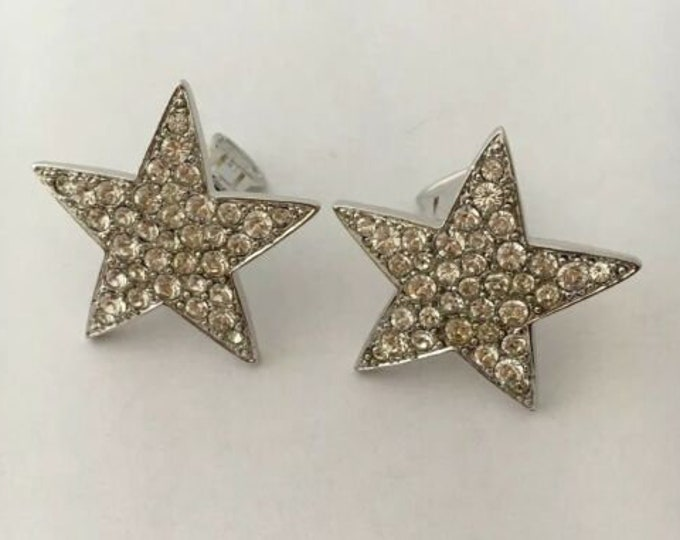 Kenneth Jay Lane Crystal Star Clip On Earrings - S3207