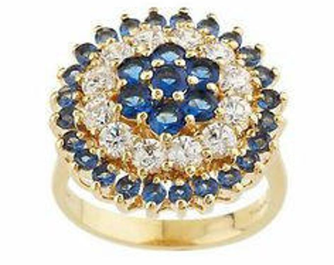 Jackie Kennedy Grand Tour Sapphire Ring Sizes 7 and 8 with Certificate  - tms1