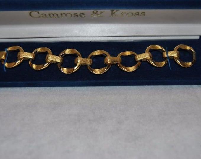 Jackie Kennedy Bracelet - Gold Circle Link Bracelet Size 7.75 with Certificate - 88