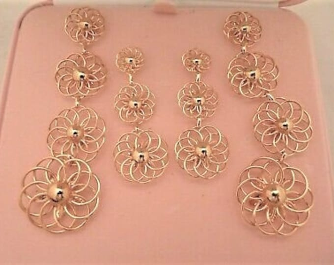 Audrey Hepburn Earrings - Gold Plated Earrings - Pierced  (4 Section Ones ONLY)