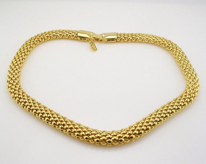 Jackie Kennedy Basket Weave Necklace with Certificate