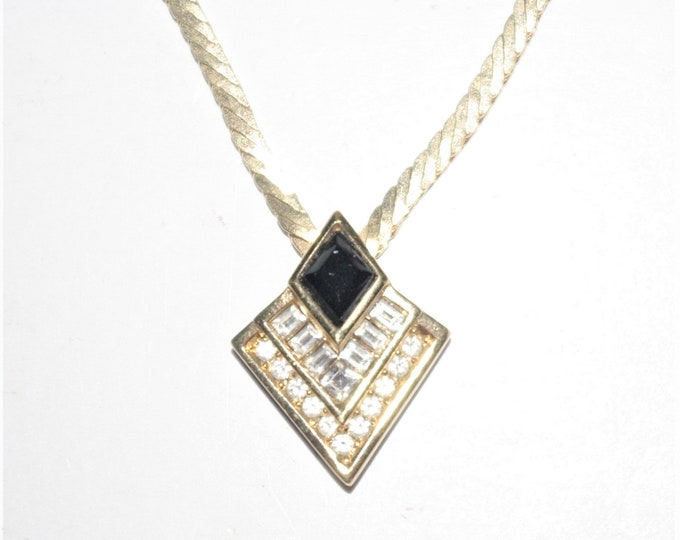 Christian Dior Crystal Pendant Necklace - S3162